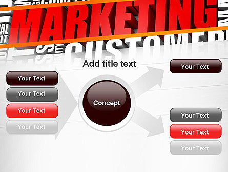 Marketing Word Cloud PowerPoint Template Slide 14
