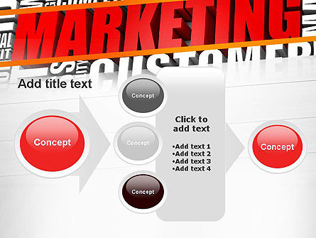 Marketing Word Cloud PowerPoint Template Slide 17