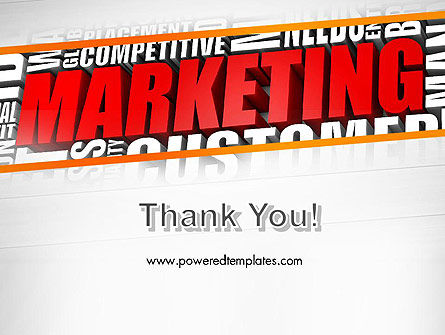 Marketing Word Cloud PowerPoint Template Slide 20