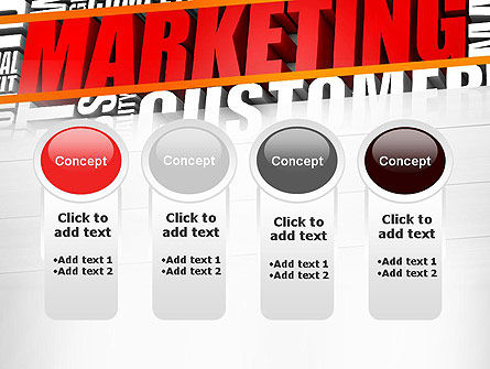Marketing Word Cloud PowerPoint Template Slide 5