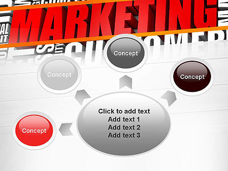Marketing Word Cloud PowerPoint Template Slide 7