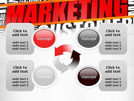 Marketing Word Cloud PowerPoint Template Slide 9