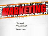Careers/Industry: Marketing Word Cloud PowerPoint Template #13009