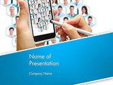 Business Concepts: 파워포인트 템플릿 - 비즈니스 네트워크 프리젠 테이션 템플릿 만들기 #13010