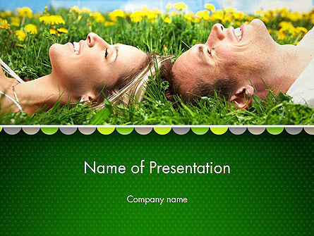 Young Couple Dreaming PowerPoint Template, 13011, People — PoweredTemplate.com