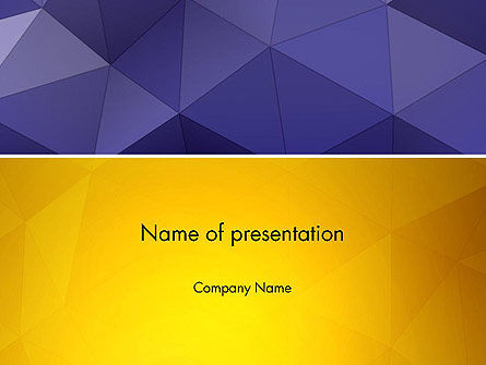 Abstract/Textures: Triangle Surface PowerPoint Template #13013