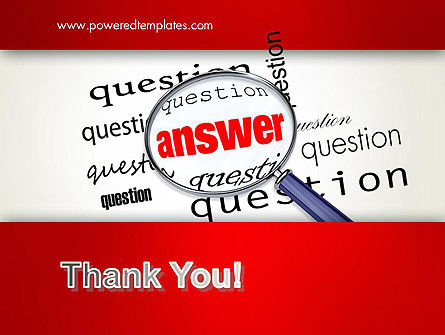 Answer to Questions PowerPoint Template Slide 20