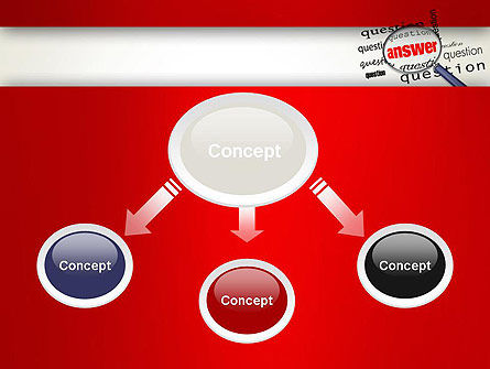 Answer to Questions PowerPoint Template, Slide 4, 13015, Business Concepts — PoweredTemplate.com