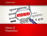 Business Concepts: Answer to Questions PowerPoint Template #13015