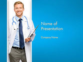 People: Modelo do PowerPoint - sorrindo médico #13016