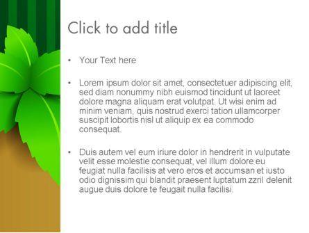 Green Leaves on Frame PowerPoint Template, Slide 3, 13017, Nature & Environment — PoweredTemplate.com
