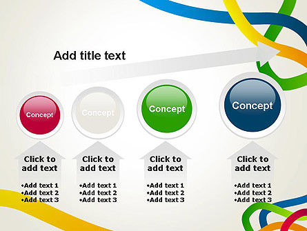 Colored Paths PowerPoint Template Slide 13