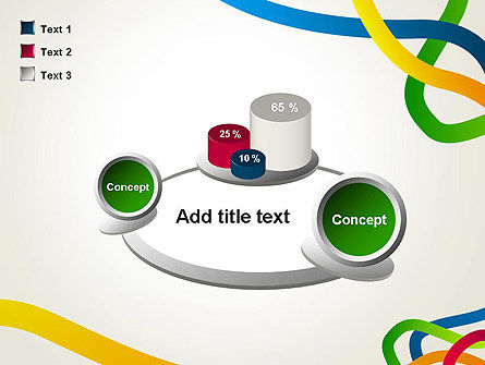 Colored Paths PowerPoint Template Slide 16