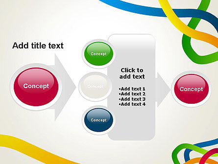Colored Paths PowerPoint Template Slide 17