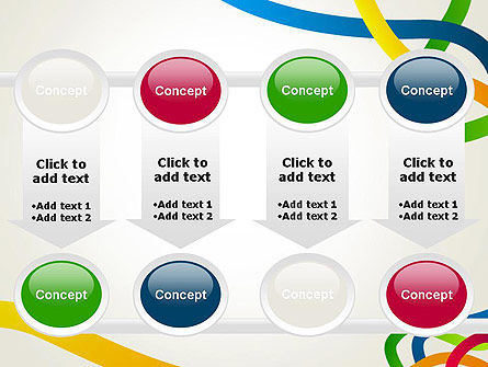 Colored Paths PowerPoint Template Slide 18