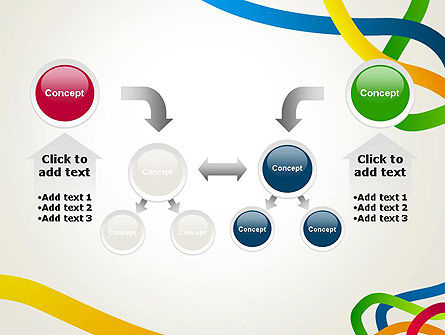 Colored Paths PowerPoint Template Slide 19
