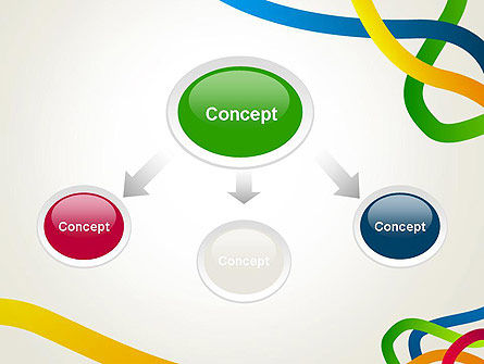 Colored Paths PowerPoint Template Slide 4
