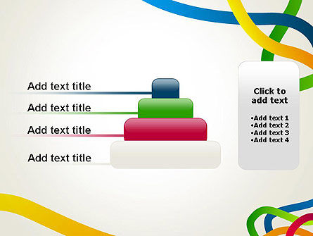 Colored Paths PowerPoint Template Slide 8