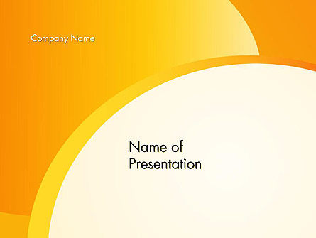 Yellow Arc PowerPoint Template