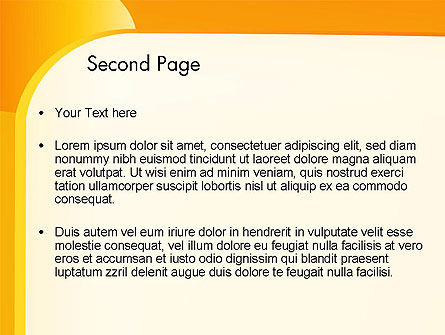 Yellow Arc PowerPoint Template Slide 2