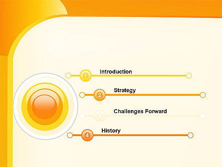 Yellow Arc PowerPoint Template Slide 3