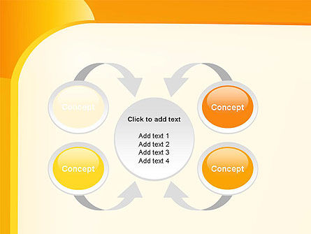 Yellow Arc PowerPoint Template Slide 6