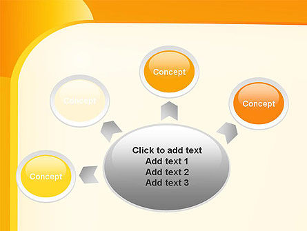 Yellow Arc PowerPoint Template Slide 7