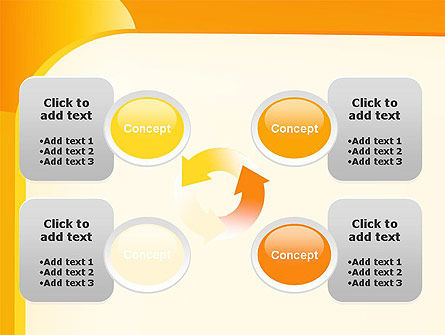 Yellow Arc PowerPoint Template Slide 9