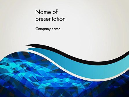 Abstract Blue of Overlapping Bands PowerPoint Template