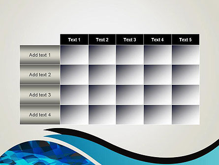 Abstract Blue of Overlapping Bands PowerPoint Template Slide 15
