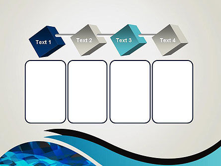 Abstract Blue of Overlapping Bands PowerPoint Template Slide 18