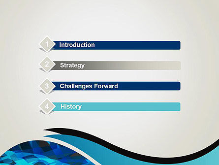 Abstract Blue of Overlapping Bands PowerPoint Template Slide 3