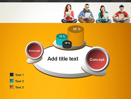 Young People with Tablets PowerPoint Template Slide 16