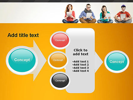 Young People with Tablets PowerPoint Template Slide 17
