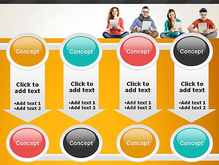 Young People with Tablets PowerPoint Template Slide 18