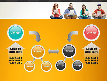 Young People with Tablets PowerPoint Template Slide 19