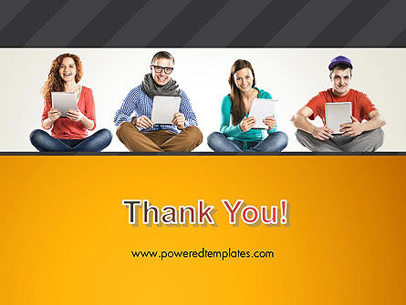 Young People with Tablets PowerPoint Template Slide 20