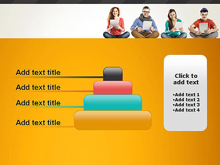 Young People with Tablets PowerPoint Template Slide 8