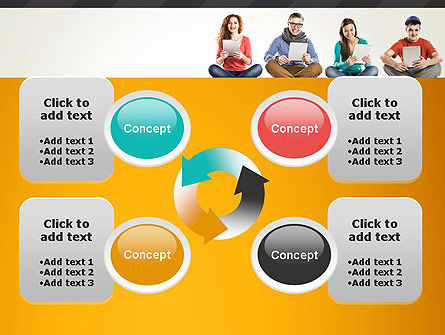 Young People with Tablets PowerPoint Template Slide 9