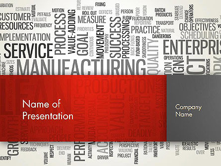 Manufacturing Word Cloud PowerPoint Template, Backgrounds