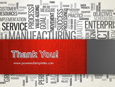Manufacturing Word Cloud PowerPoint Template Slide 20