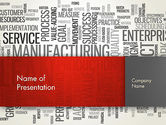 Business Concepts: Manufacturing Word Cloud PowerPoint Template #13023