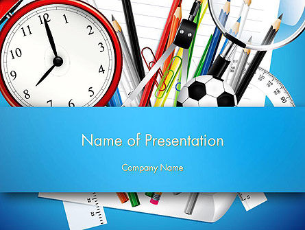Schools Stationery PowerPoint Template, 13024, Education & Training — PoweredTemplate.com