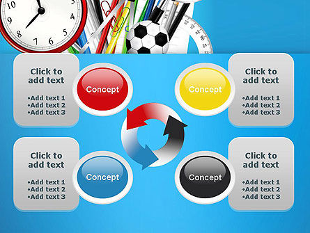 Schools Stationery PowerPoint Template Slide 9