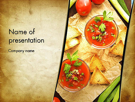 Vegetable Soup PowerPoint Template, 13025, Food & Beverage — PoweredTemplate.com