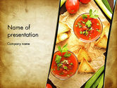 Food & Beverage: Vegetable Soup PowerPoint Template #13025