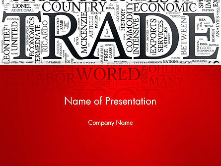 Careers/Industry: Trade Word Cloud PowerPoint Teemplate #13026
