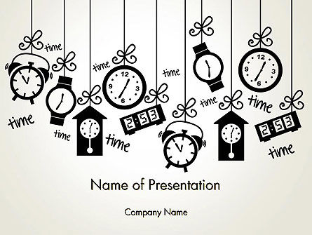 Floating Hours PowerPoint Template, 13028, Consulting — PoweredTemplate.com