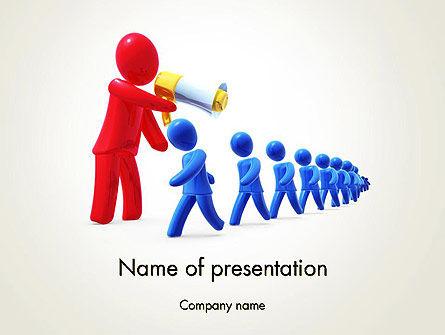 Propaganda PowerPoint Template, 13029, Careers/Industry — PoweredTemplate.com