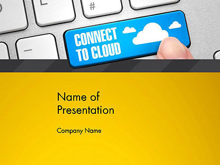 Cloud Backup PowerPoint Template, 13033, Technology and Science — PoweredTemplate.com